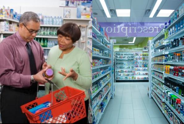 Piles of medicines